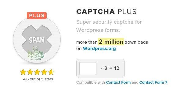 WordPress验证码插件 – Captcha Plus(汉化)[更新至v5.0.9] WordPress插件 第1张