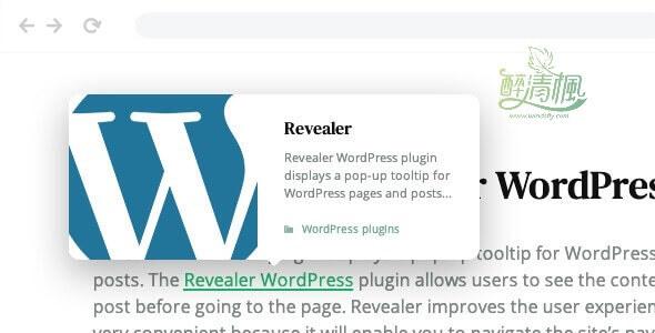 WordPress文章悬浮展示插件 - Revealer v1.0.2(汉化) WordPress插件 第1张