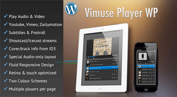 Wordpress音视频播放器 - Vimuse v3.2(汉化) WordPress插件 第1张