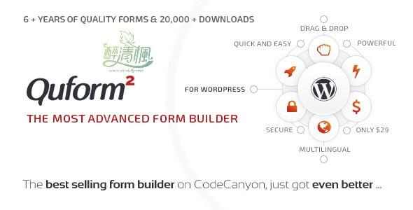 WordPress联系表单插件 - Quform(汉化)[更新至v2.11.2] WordPress插件 第1张