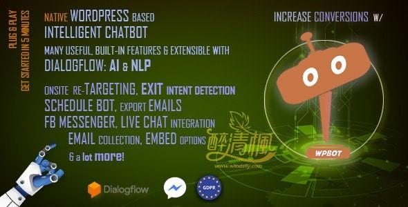 Wordpress机器人插件 - WPBot Pro WordPress Chatbot(汉化)[更新至v10.0.2] WordPress插件 第1张
