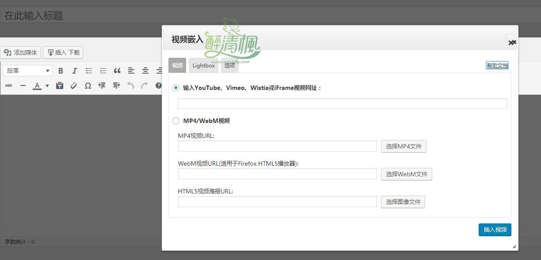 WordPress视频播放器插件 - Video Embed v1.6(汉化)[通用版+城通网盘专版] WordPress插件 第4张
